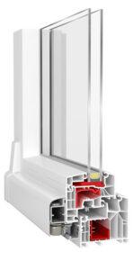 PSK-Tür ETRUM ECO mit Aluplast Ideal 8000